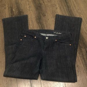 7 FOR ALL MANKIND DARK DENIM TROUSER